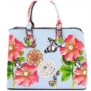 LAST ONE Flower Printed Satchel